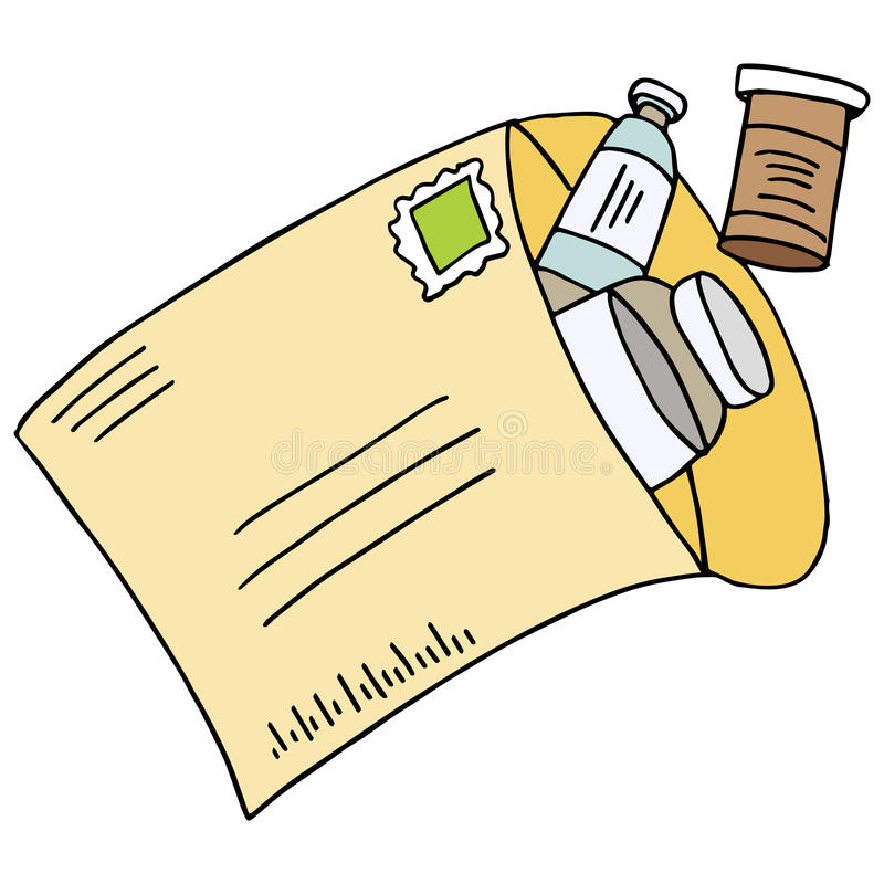 Mail Order Medication royalty free illustration