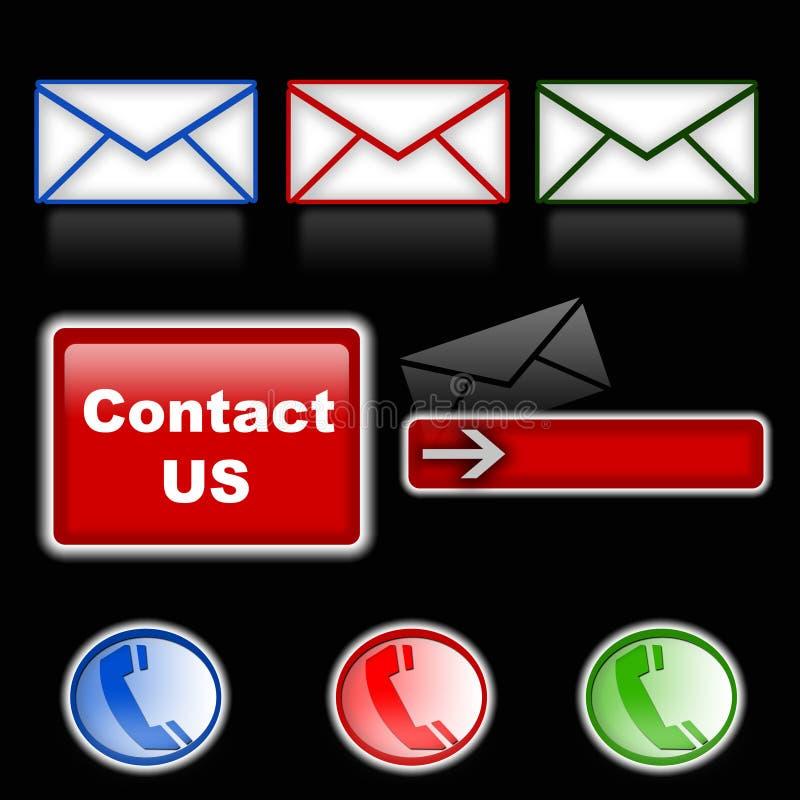 Mail & Phone Symbols Royalty Free Stock Photos
