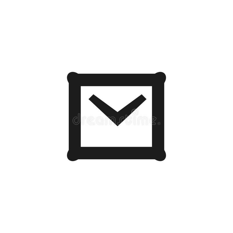 E-mail icon. Letter symbol. Envelope sign stock illustration