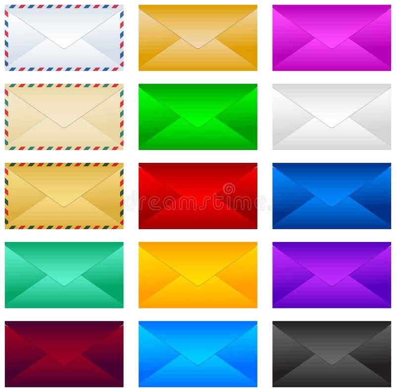 Mail postal envelope vector illustration set, collection. Mail postal envelope vector illustration set, collection - eps available vector illustration