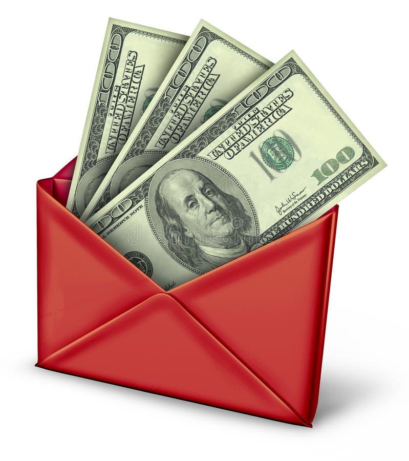 Mail in rebate in red envelope royalty free illustration