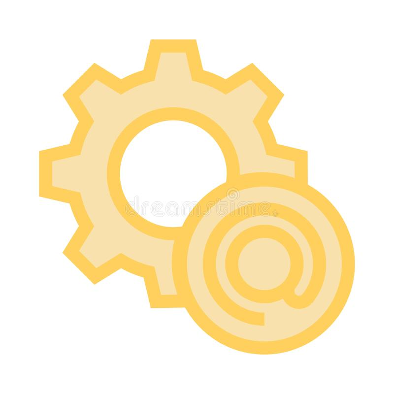 Mail setting line icon royalty free illustration
