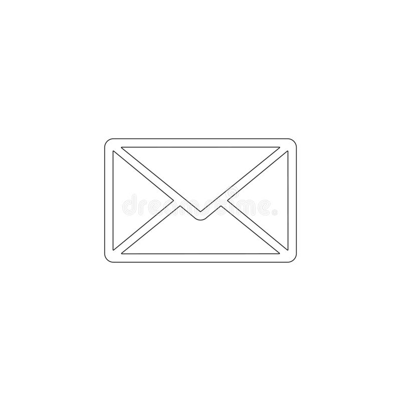 Mail. flat vector icon royalty free illustration
