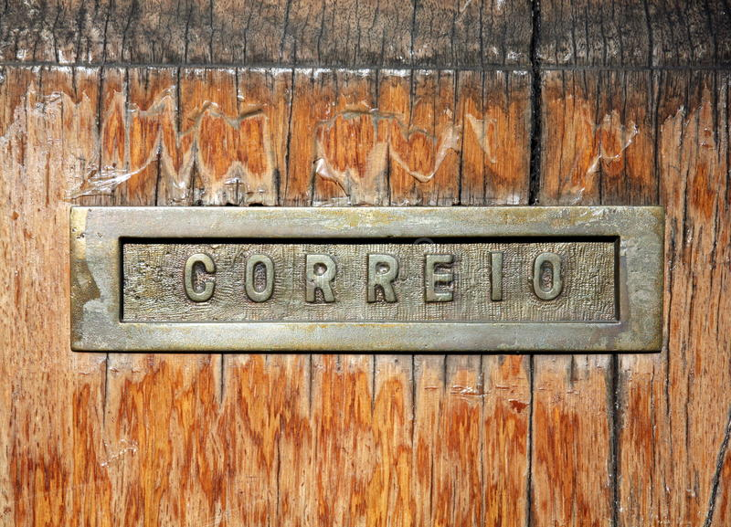 Download Mail slot stock photo. Image of portuguese, paper, lettering - 31088860