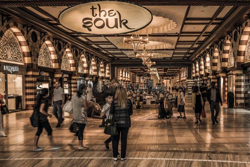 Mail Souk de Dubaï image libre de droits