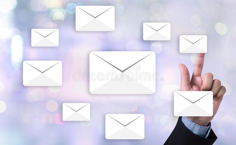 MAIL Text on Message Online Chat Social royalty free stock image