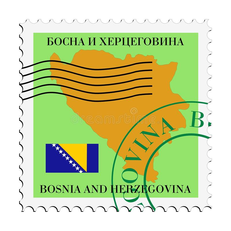 Download Mail To/from Bosnia And Herzegovina Stock Vector - Illustration of bosnia, stamp: 14668894