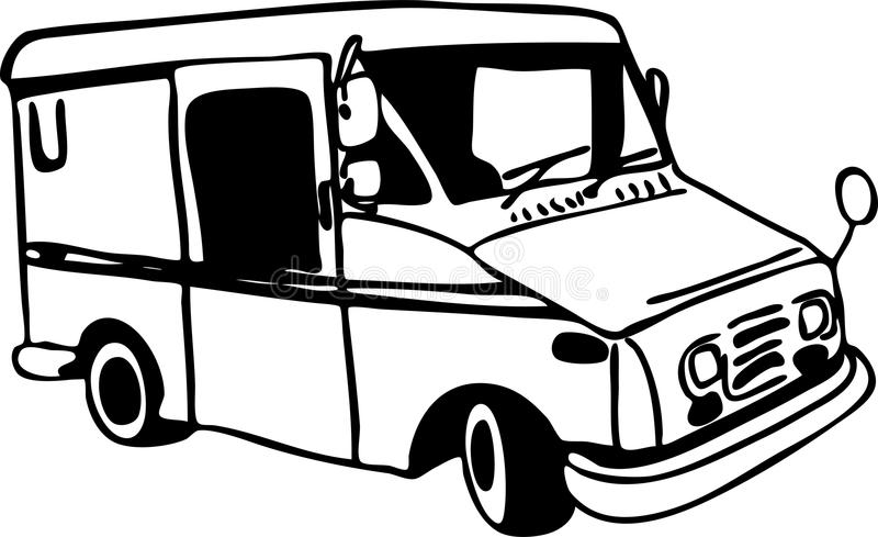 Mail Truck royalty free illustration
