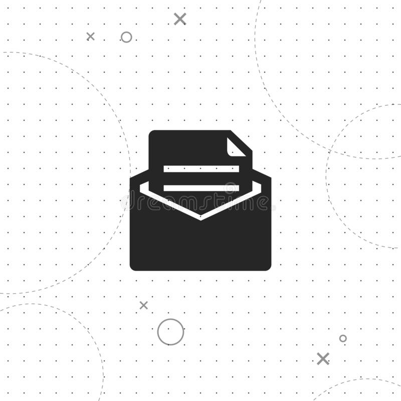 Mail, vector best flat icon. On texture background , EPS 10 stock illustration