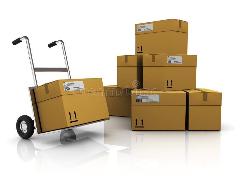 Mail warehouse stock illustration