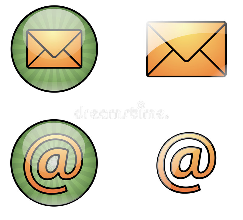 Download Mail web icons stock vector. Image of illustration, glossy - 7976050