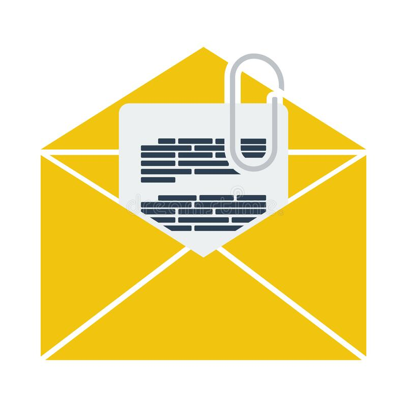 Free Mail With Attachment Icon Royalty Free Stock Photo - 194053205