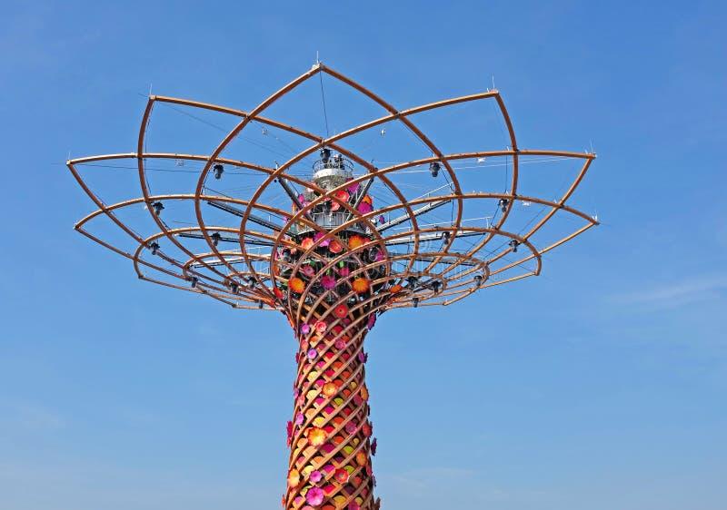 Mailand, Ausstellung 2015, Baum des Lebens stockfotos