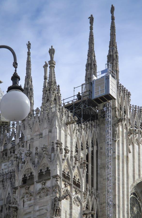 Mailand, die Duomo-Kathedrale stockbilder