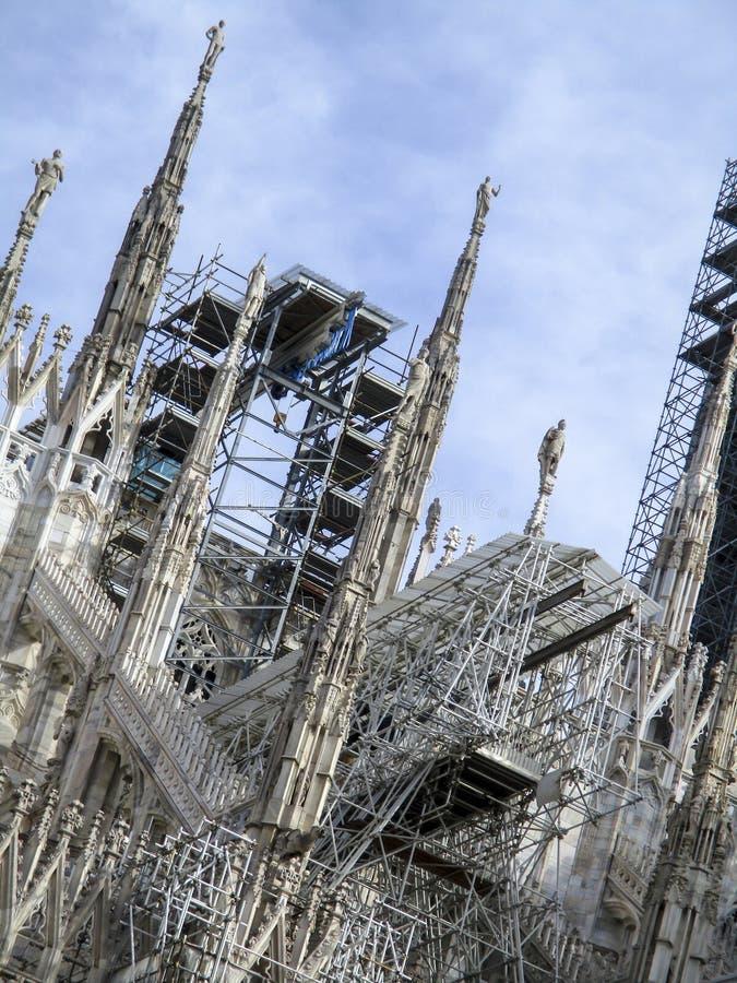 Mailand, die Duomo-Kathedrale stockfotografie