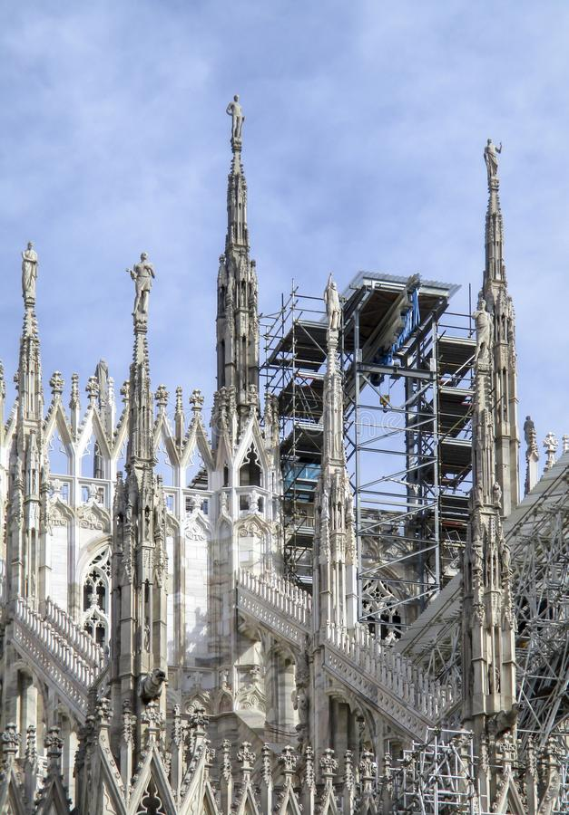 Mailand, die Duomo-Kathedrale stockbild