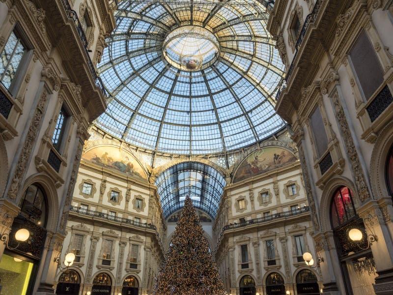 Mailand: die Galerie stockbilder