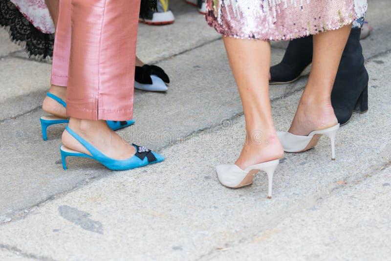Mailand-Frauenmodewoche 2018 lizenzfreies stockbild