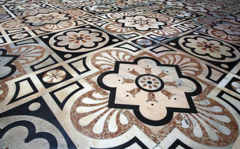 Mailand - Fußboden von Dom stockbilder