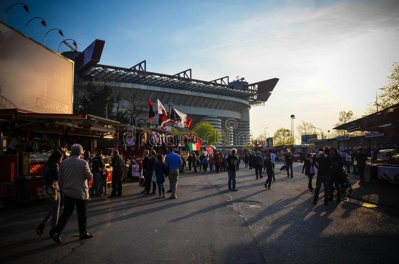 Mailand gegen Sampdoria lizenzfreie stockfotos