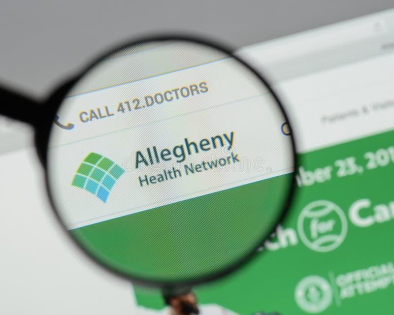 Mailand, Italien - 10. August 2017: Allegheny-Gesundheits-Netzwebsite stockfoto