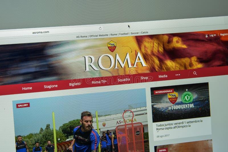Mailand, Italien - 10. August 2017: ALS ROM-Websitehomepage Rom L lizenzfreies stockfoto