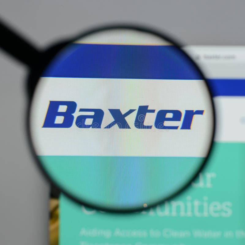 Mailand, Italien - 10. August 2017: Baxter International-Logo auf stockfotos