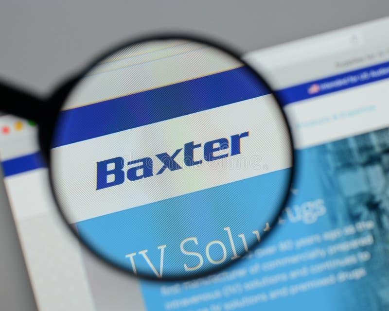 Mailand, Italien - 10. August 2017: Baxter International-Logo auf lizenzfreie stockfotografie