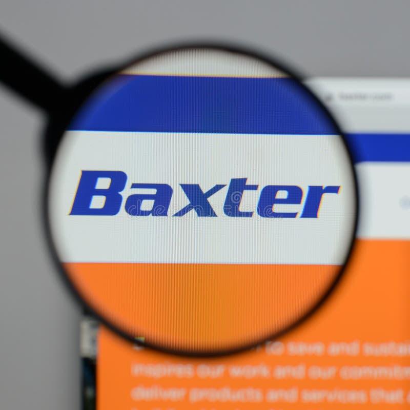 Mailand, Italien - 10. August 2017: Baxter International-Logo auf stockfoto