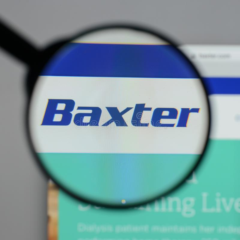 Mailand, Italien - 10. August 2017: Baxter International-Logo auf stockbild