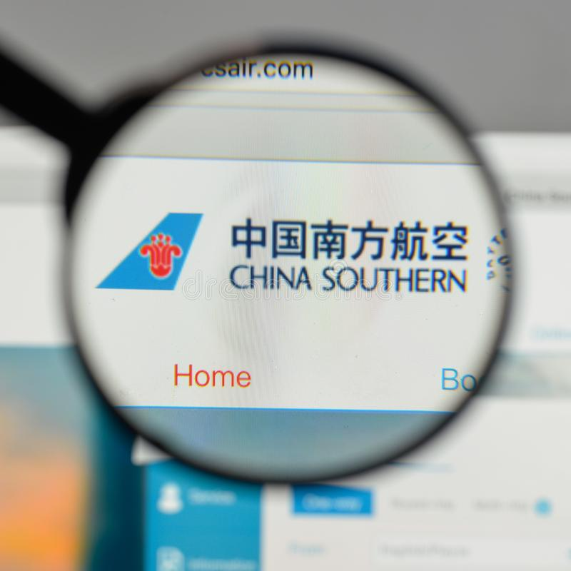 Mailand, Italien - 10. August 2017: China Southern Airlines-Logo an stockfoto