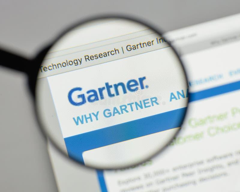 Mailand, Italien - 10. August 2017: Gartner-Logo auf dem Websitehaus stockbild