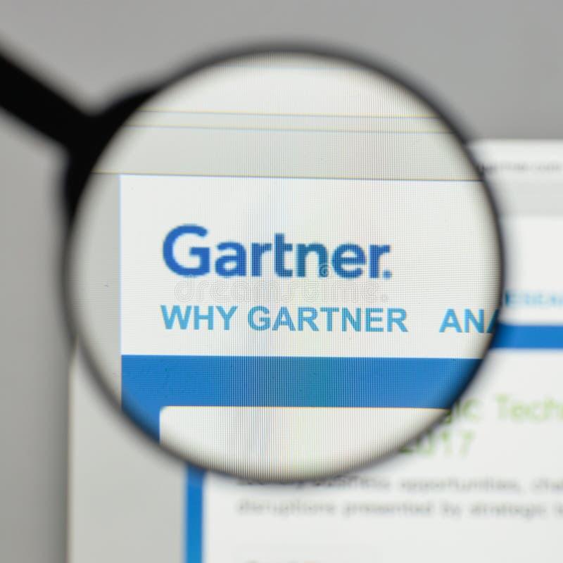 Mailand, Italien - 10. August 2017: Gartner-Logo auf dem Websitehaus lizenzfreies stockfoto