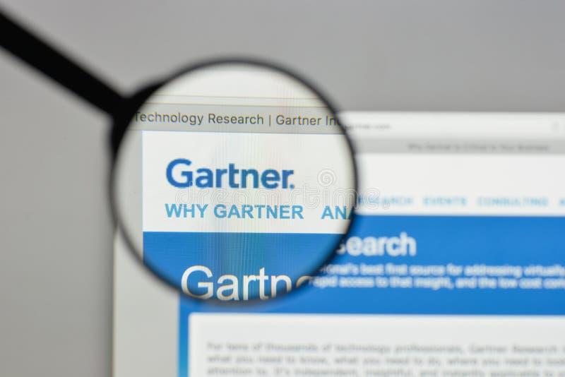 Mailand, Italien - 10. August 2017: Gartner-Logo auf dem Websitehaus lizenzfreie stockfotografie