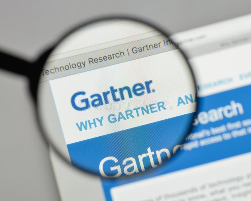 Mailand, Italien - 10. August 2017: Gartner-Logo auf dem Websitehaus stockbilder