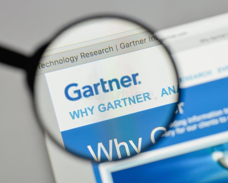 Mailand, Italien - 10. August 2017: Gartner-Logo auf dem Websitehaus lizenzfreie stockfotos