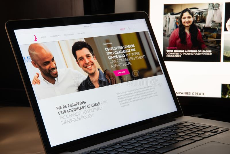Mailand, Italien - 15. August 2018: Websitehomepage Scharfsinn-Kapital nichtstaatlicher Organisation stockfotos