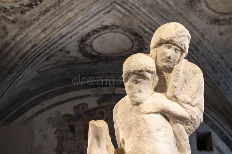 Mailand, Italien, Europa, das Rondanini Pietà, Michelangelo, Buonarroti, Sforza-Schloss, Museum, Jungfrau, Mary, Jesus stockfotos