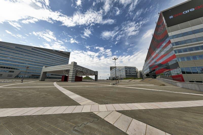Mailand Italien moderne Gebäude bei Portello lizenzfreies stockbild