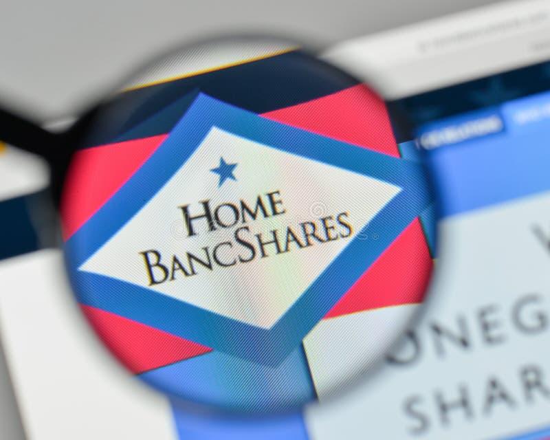 Mailand, Italien - 1. November 2017: Haupt-Bancshares-Logo im Netz stockbild
