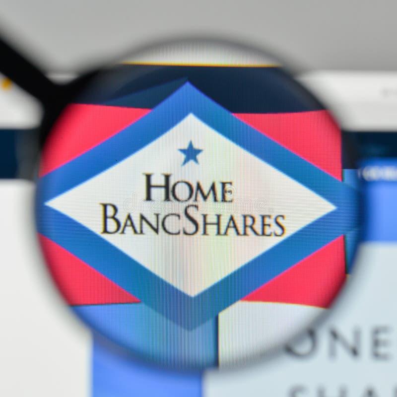 Mailand, Italien - 1. November 2017: Haupt-Bancshares-Logo im Netz stockfotografie