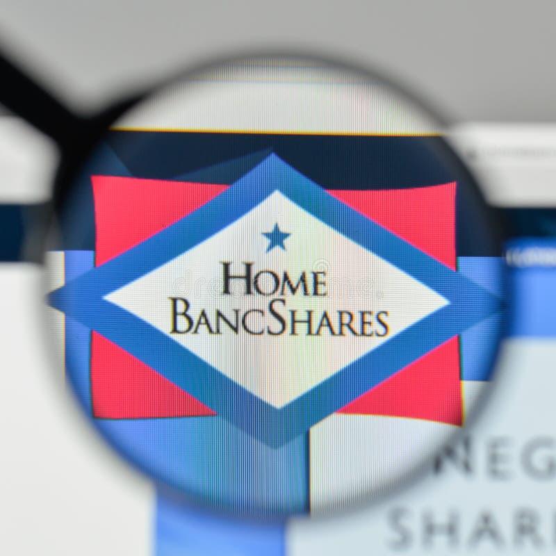 Mailand, Italien - 1. November 2017: Haupt-Bancshares-Logo im Netz lizenzfreie stockbilder