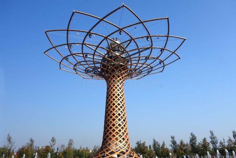 Mailand, Italien - Oktober 2015: Baum des Lebens an Universalausstellungs-Ausstellung 2015 stockbild