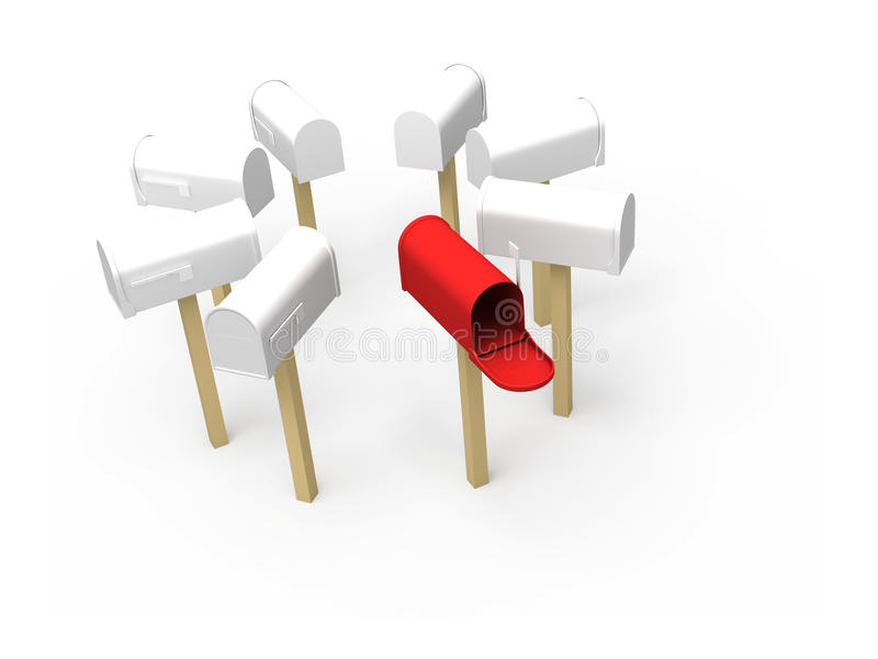 Mailbox vektor abbildung