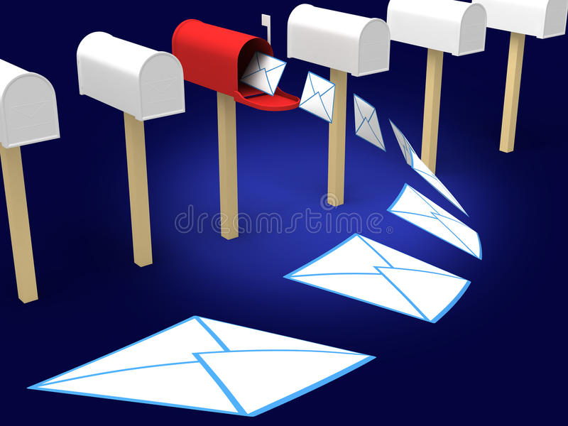 Mailbox lizenzfreie abbildung