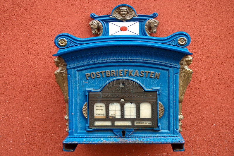Download Mailbox 1896 stock image. Image of noerdlingen, antique - 27895