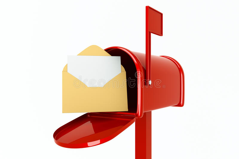 Download Mailbox stock illustration. Illustration of public, flag - 21416803