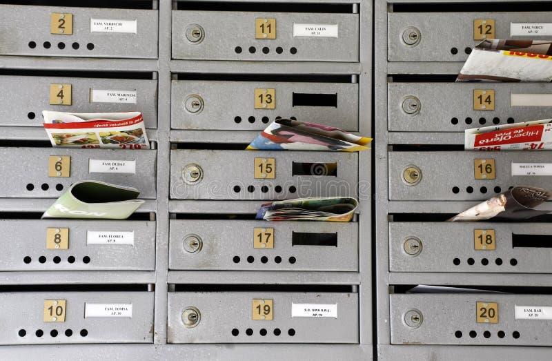 Mailbox-Bekanntmachen lizenzfreie stockfotografie