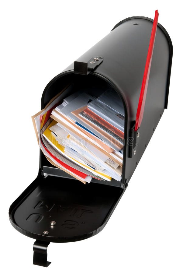 Mailbox full of mail royalty free stock photos
