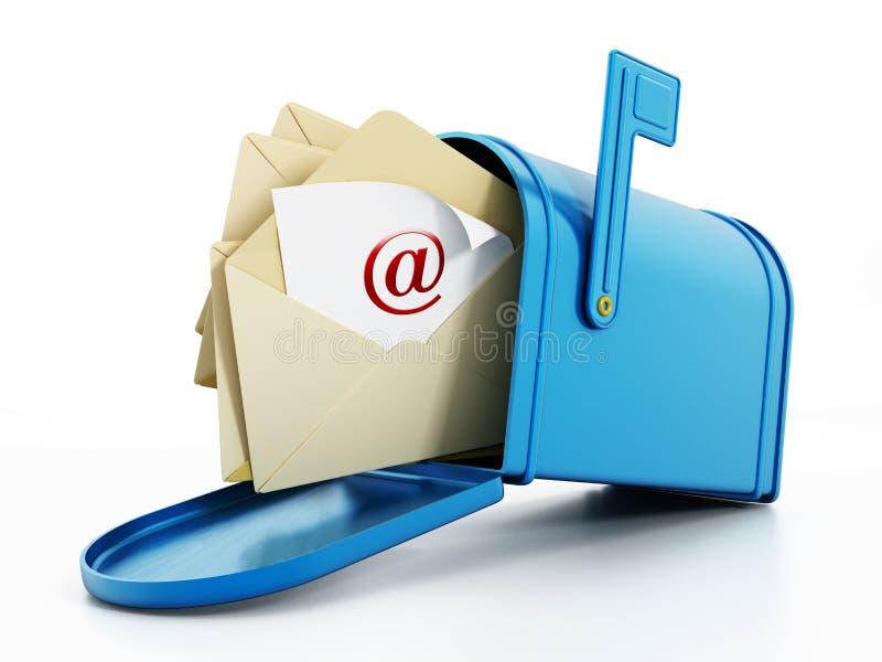 Mailbox full of mail stock illustration Illustration of internet